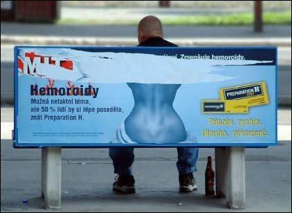 Velplassert reklame for hemorroide-salve.