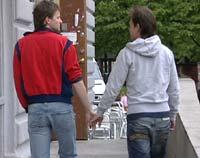 Jon Christer og kjæresten Henning.