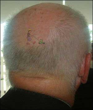 Tatovering for skallede.