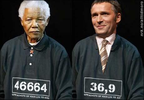 Stoltenberg forklarte i dag sitt engasjement for Mandela slik: - Også vi i Ap har blitt utsatt for mye urettferdighet opp igjennom årene. (Alltid Moro)