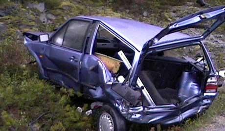 Ulykken skjedde på Hitra torsdag kveld. (Foto: Frøya Film & Bilder/BMM)