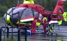 De to skadde ble sendt til St. Olavs Hospital i Trondheim. (Foto: Frøya Film & Bilder/BMM)