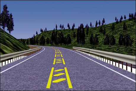 Det nye midtfeltet skal hindre trafikantene i å komme over i motsatt kjørefelt. (Foto: Sindef)
