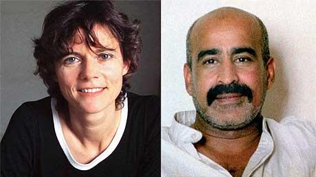 FRI I DAG: Liberation-journalisten Florence Aubenas og tolken Hanoun Al-Saadi. Foto: AFP/Scanpix.