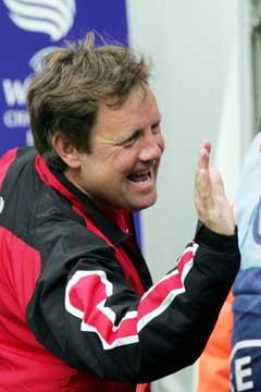 Bjarne Berntsen slapp jubelen løs etter seieren. (Foto: Terje Bendiksby / SCANPIX)