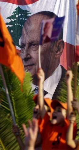 Den kristne lederen Michel Aoun har gjort et brakvalg i Libanon. (Foto: AP/Scanpix)
