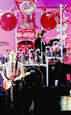 Pink Floyd gjenforenes for første gang på 24 år på Live 8. Foto: Scanpix