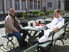 Ærverdige Ringve gård i Trondheim danner rammen når radiokokk Inge Johnsen og Tron Soot-Ryen disker opp i Norgesglasset i sommer. Foto: Per Kristian Johansen, NRK