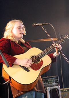 Ane Brun har bidratt til den høye norskandelen i 2005 med albumet A Temporary Dive. Foto: Per Ole Hagen, NRK.