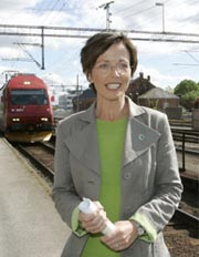 Samferdselsminister Torhild Skogsholm. Foto: Scanpix.