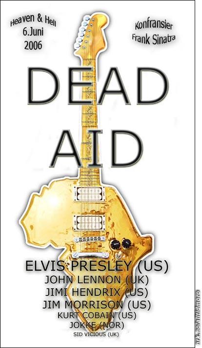 Konserten vil finne sted i det hinsidige 6/6 06. (Innsendt av Pål Hilmar Sollie, http://tidstyven.sprayblogg.no/)
