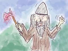 Eirik skal ha fått tilnavnet Blodøks fordi han sørget for å ta livet av brødrene sine som han oppfattet som rivaler. Illustrasjon: Per Kristian Johansen, NRK