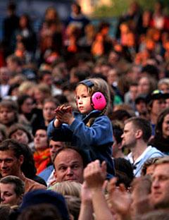 Neste generasjon deLillos-fan? Foto: Arne Kristian Gansmo, NRK.