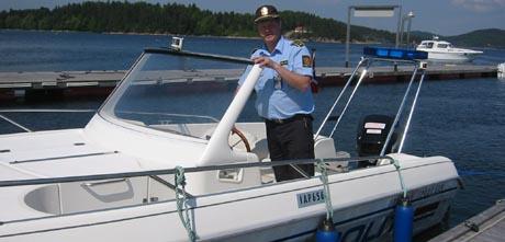 En stolt hurumlensmann tok den første prøveturen på torsdag. Foto: NRK.