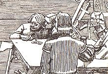 Harald Gråfell sammen med sine brødre. Illustrasjon: Christian Krohg