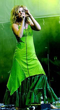 Gunnhild Sundli i Gåte på Norwegain Wood. Foto: Arne Kristian Gansmo.