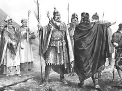 Olav Tryggvasons ankomst til Norge i 995. Illustrasjon: Peter Nicolai Arbo, 1860