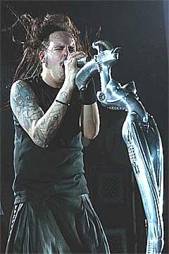 Vokalist Jonathan Davis i Korn har fått en alvorlig blodsykdom. Foto: Scanpix.