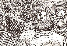 Olav den hellige. Illustrasjon: Christian Krohg