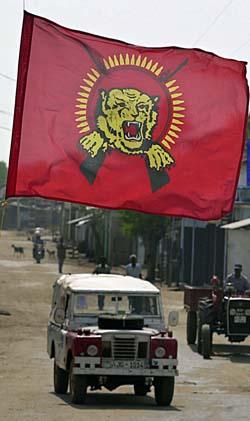 Tamiltigrene dominerer store deler av de områdene på Sri Lanka som ble hardest rammet av Tsunamien. (Foto: Eranga Jayawardena, AP)