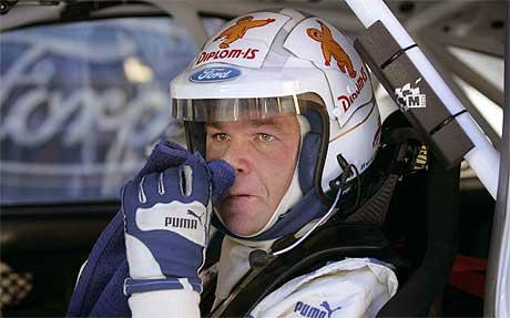 Henning Solberg har kjørt av veien på SS 10. (Foto: RacinG Online / SCANPIX )