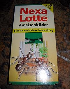 Vi ble tipset av Ibrahim om å kjøpe denne for å kvitte oss med maurene. Foto: Schtimm.