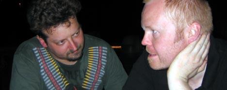 Trosk og Martin (teknisk ansvarlig på Wagenmeister) oppsummerer kvelden. Foto: Schtimm.