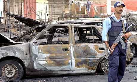 En bilbombe har eksplodert  i Bagdad. Foto: AFP