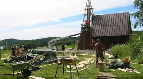 Ulykka skjedde her på speiderleiren i Eidskog.(Foto: Vera Wold/NRK)