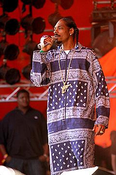 Snoop Dogg, her på Orange Scene på Roskilde tidligere i år, kommer altså ikke til Norge igjen. Foto: Arne Kristian Gansmo, NRK.