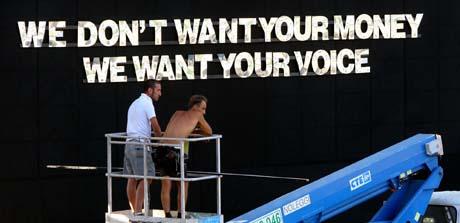 Denne gangen handler det ikke om veldedighet, men politisk press. (Foto: A. Tarantinio, AP)