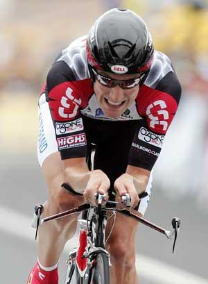 David Zabriskie vant den første etappen av Tour de France. (FOTO: REUTERS/ SCANPIX)