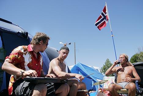 Festivalledelsen på Roskildefestivalen har en fornemmelse av at det har vært færre nordmenn på Roskilde i år enn tidligere. Foto: Torben Christensen, Scanpix.