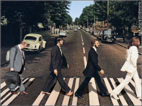 Den femte Beatle fant seg aldri til rette med at han måtte gjøre alt kontorarbeidet. (Innsendt av Eirik S. Hansen)