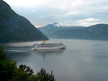 Cruiseskip Eidfjord. Foto: Ketil Bjotveit.