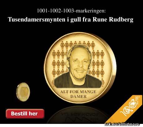 Rune Rudbergs minnemynt. (Alltid Moro)