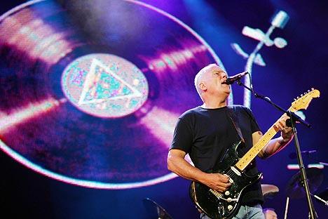 David Gilmour og Pink Floyd har økt platesalget sitt astronomisk etter Live 8-konserten. Foto: John D McHugh, AFP Photo / Scanpix.