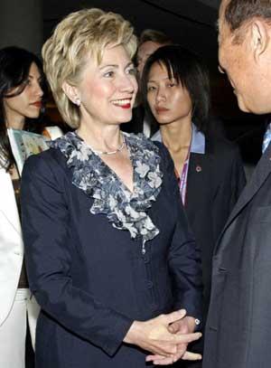 Hillary Clinton i Singapore. (FOTO: AP/ SCANPIX)