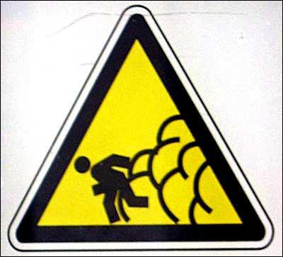 Løp i sikkerhet hvis du slipper en ekstremt stor promp. (Kilde: www.swanksigns.org)