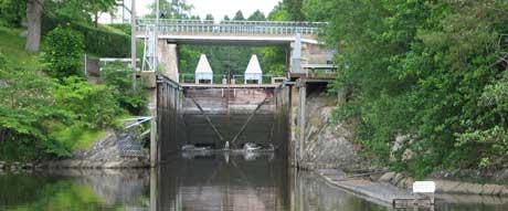 Strømsfoss sluse (Foto: Steinar Fundingsrud)