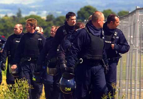 Vaktholdet ved Gleneagles er ikke blitt mindre etter eksplosjonene i London. Foto: Scanpix.