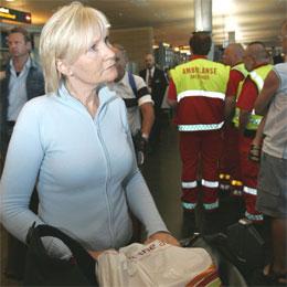 Ingrid Breistein fra Bergen kom torsdag ettermiddag tilbake til Norge etter å ha opplevd terroraksjonen i London. (Foto: Morten Holm/Scanpix)