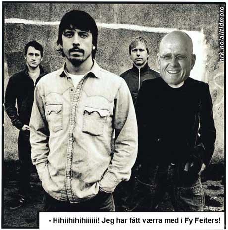 """Jan Erik Larssen er kjent for uttrykket """"Fy feite!"""". I helgen fikk han spille med bandet Foo Fighters. (Innsendt av Kjell M. Kaasa)"""