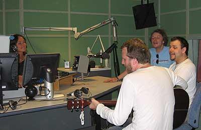 Twinklehead i studio (foto: Reidar Mosland, NRK Sørlandet)