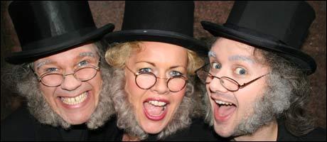 <b>Tre ganger Ibsen: </b>Bjarte Hjelmeland, Monica Hjelle, Jan Martin Johnsen