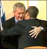 Jagland møtte bl.a. Barak. (Foto: NRK)
