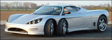 Covini C6W: bilen med seks hjul.