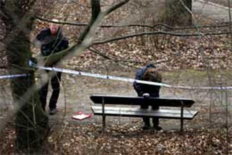 På denne benken ble Fabian Bengtsson funnet den 3. februar (Foto: Scanpix/AP/B.L. Rosvall)
