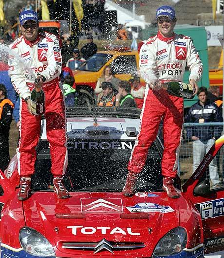 Sèbastien Loeb tok sin sjuende strake seier i Rally Argentina. Nå vil den regjerende verdensmesteren ta sin åttende strake. (Foto: Ali Burafi/AFP/SCANPIX)