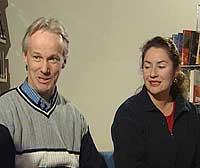 Per og Veronica Orderud. (Foto: NRK)